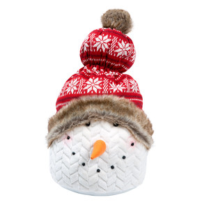 "Merry Maggie by WarmHearts - 20"" Snowman Door stopper"