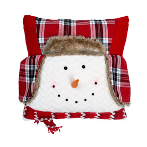 "Cozy by WarmHearts - 16"" Snowman Pillow"