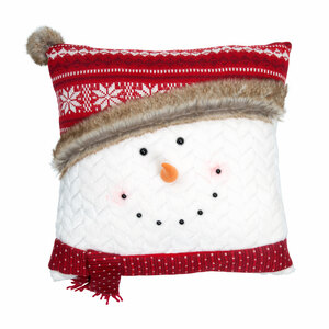 "Comfy by WarmHearts - 16"" Snowman Pillow"