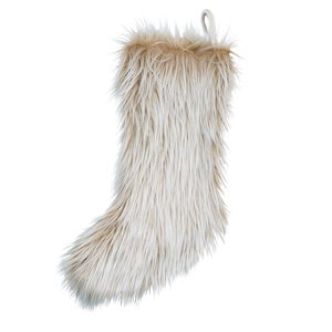"Cream Faux Fur by WarmHearts - 20"" Stocking"