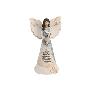 "Faith by Elements - 6.5"" Angel holding Cross"