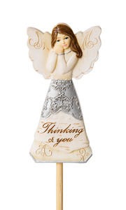 "Thinking of You by Elements - 3"" Angel Floral Pick"