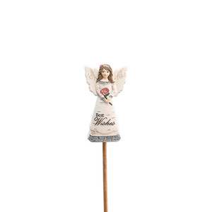 "Best Wishes by Elements - 3"" Angel Floral Pick"