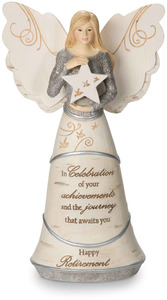 "Retirement by Elements - 6.5"" Angel Holding Star"