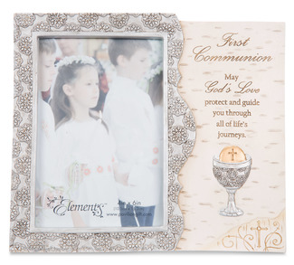 "First Communion by Elements - 8""x7"" Frame with 4""x6"" Photo Opening"