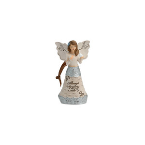 "By Your Side by Elements - 4.5"" Angel Ornament"