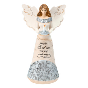 "Light by Elements - 9"" Angel Holding a Candle"