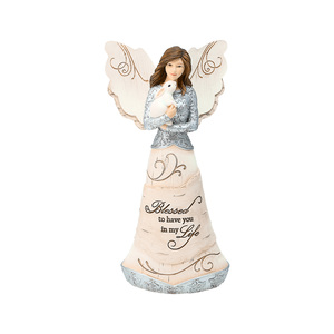 "Blessed by Elements - 7.5"" Angel Holding a Bunny"