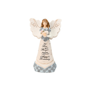 "Anniversary by Elements - 6"" Angel Holding Heart"