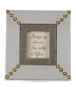"Home by Emmaline - 5.5"" x 6"" Plaque/Frame"