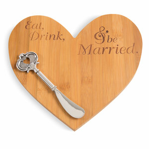 Eat Drink Married by Glorious Occasions - Bamboo Cheese Board with Spreader
