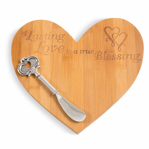 Lasting Love by Glorious Occasions - Bamboo Cheese Board with Spreader