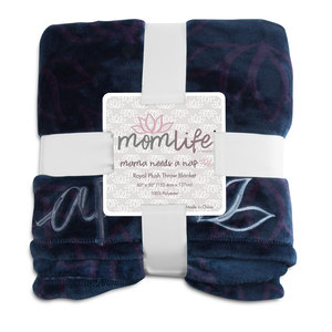 "Nap by Mom Life - 50""x60"" Royal Plush Blanket"
