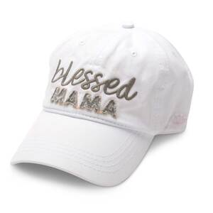 Blessed Mama by Mom Life - White Adjustable Hat