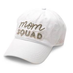 Mom Squad by Mom Life - White Adjustable Hat