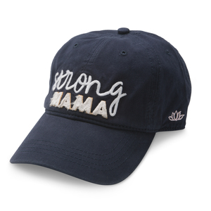 Strong Mama by Mom Life - Navy Adjustable Hat