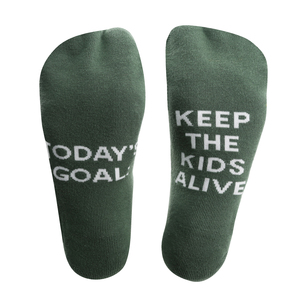 Today's Goal by Mom Life - Ladies Cotton Blend Sock