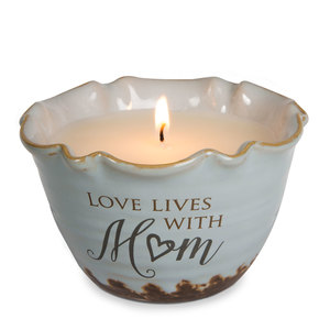 Mom by Love Lives Here - Single Wick 9 oz Soy Wax Candle Scent: Tranquility