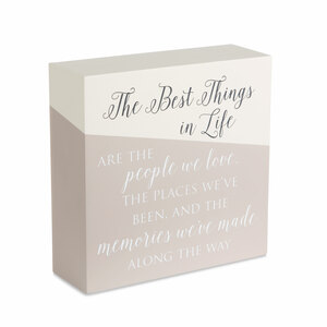 "The Best Things by Love Lives Here - 6"" x 6"" Plaque"