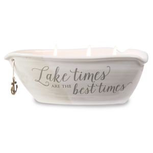 Lake Times by Love Lives Here - Triple Wick 10 oz Soy Wax Candle Scent: Tranquility