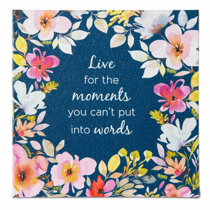 Moments by Flora by Stephanie Ryan - Canvas Plaque with Easel Back
