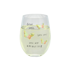 Dear You by Celebrating You - 18 oz Stemless Wine Glass