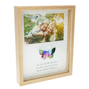 "Life by Celebrating You - 7.5"" x 9.5"" Shadow Box Frame (Holds 6"" x 4"" Photo)"