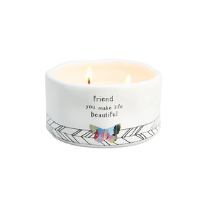 Friend by Celebrating You - 8 oz - 100% Soy Wax Candle Scent: Tranquility