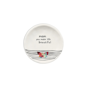 "Mom by Celebrating You - 4"" Keepsake Dish"