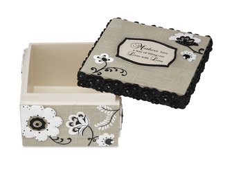 "Mother by Modeles - 3.5""x3.5""x2.5"" Trinket Box"