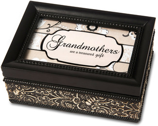 "Grandmother by Modeles - 4"" x 6"" Music Box"