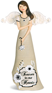 "Sympathy by Modeles - 7.5"" Angel Holding Flower"
