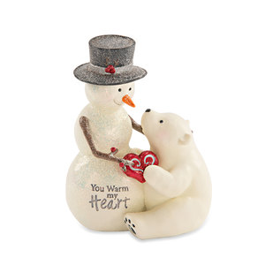 "My Heart by Berry and Bright - 4.5""Snowman and Polar Bear"