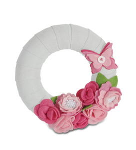 "Pretty in Pink by Signs of Happiness - 6"" Wreath"