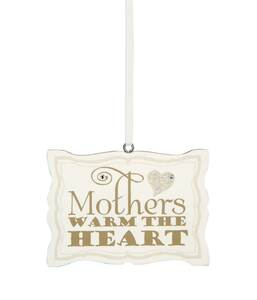 "Mother by Signs of Happiness - 3""x2"" Hanging Plaque"