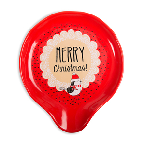 "Merry Christmas! by Snow Pals - 5"" Spoon Rest"