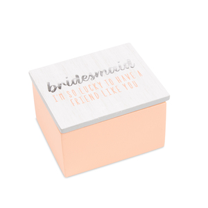 Bridesmaid by Best Kept Trinkets - 2.25 x 2 x 1.5 MDF Trinket  Box