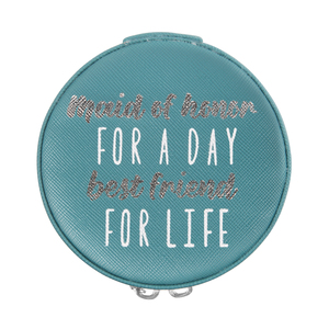 "Maid of Honor by Best Kept Trinkets - 3.5"" Zippered Jewelry Case"