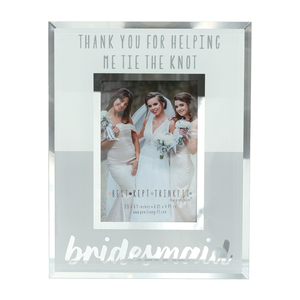 "Bridesmaid by Best Kept Trinkets - 4.75"" X 6"" Frame (Holds a 2.5"" X 3.5"" Photo)"