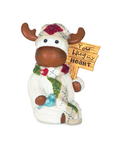 "You Hug My Heart by The Sockings - 4"" Moose with Sign"