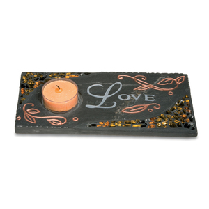 "Love by Fragments - 7.5"" x 3.5"" Votive Holder"