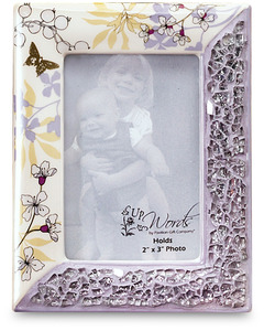 "Purple by UpWords - 4.5""x3.5"" Mosaic Photo Frame"