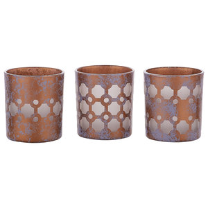 Love Lives Here Bronze by Candle Decor - 3 Assorted Votive Holders