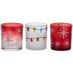 Holiday Hoopla by Candle Decor - 3 Assorted Votive Holders