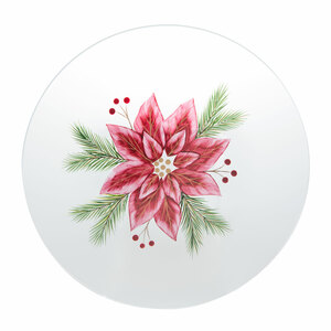 Poinsettia by Candle Decor - Candle Tray