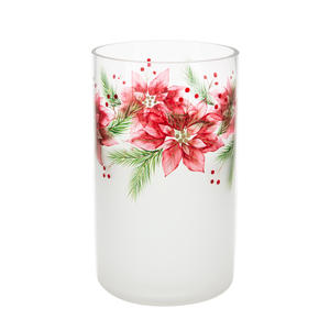 Poinsettia by Candle Decor - Jar Candle Holder