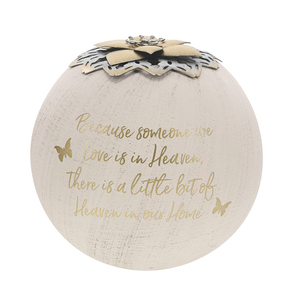 "Heaven by Forever in our Hearts - 5"" Round Tea Light Candle Holder"