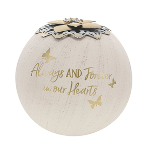 "Always & Forever by Forever in our Hearts - 5"" Round Tea Light Candle Holder"