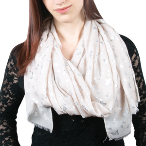 "Butterfly Pale Blush by Forever in our Hearts - 27.5"" x 71"" In Memory Scarf"