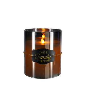 "Faith by Candle Decor - 6"" Smoke Luster Realistic Flame Candle"